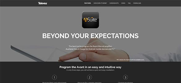 Asuite Microsite