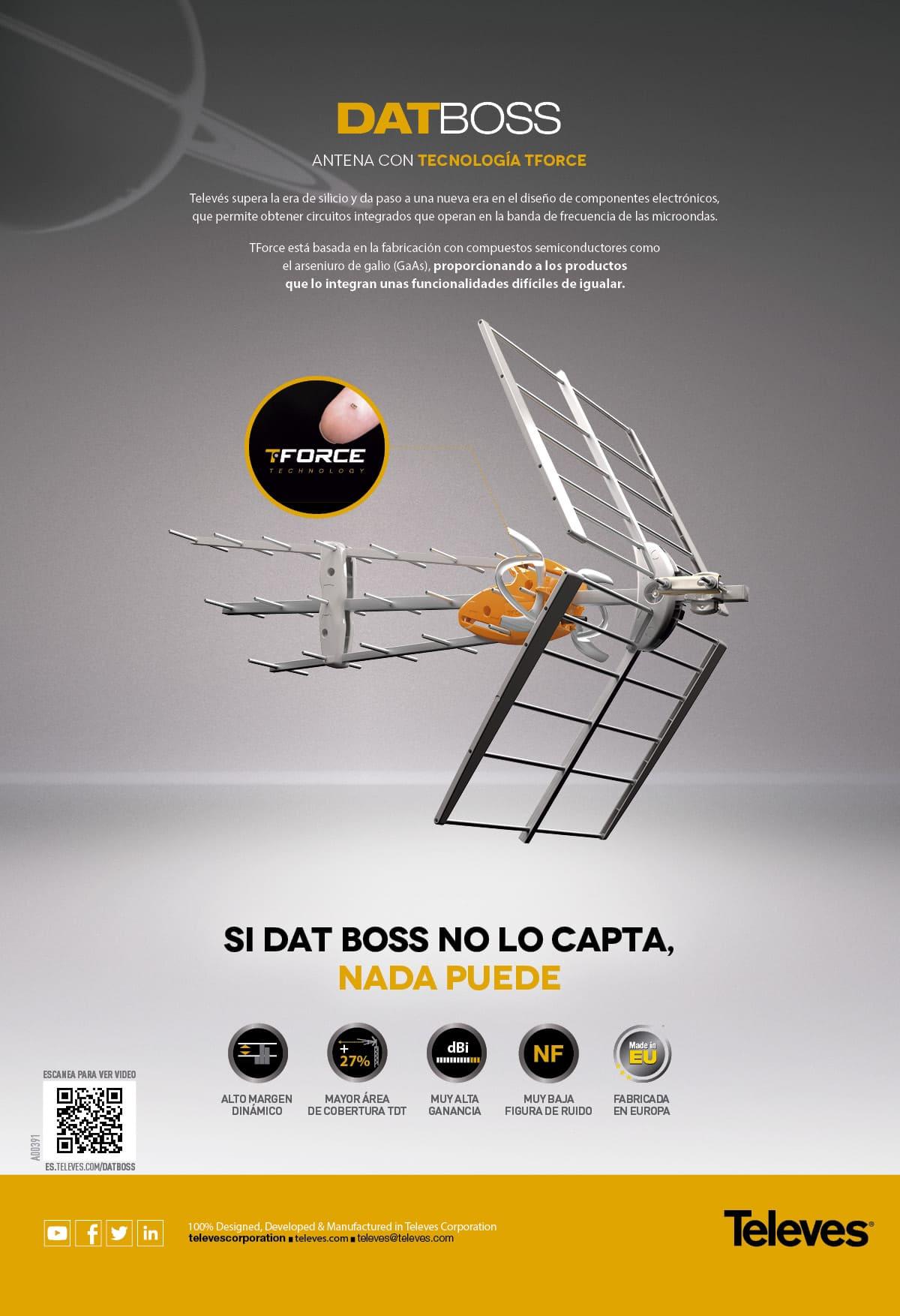 datboss antena con tecnología tforce