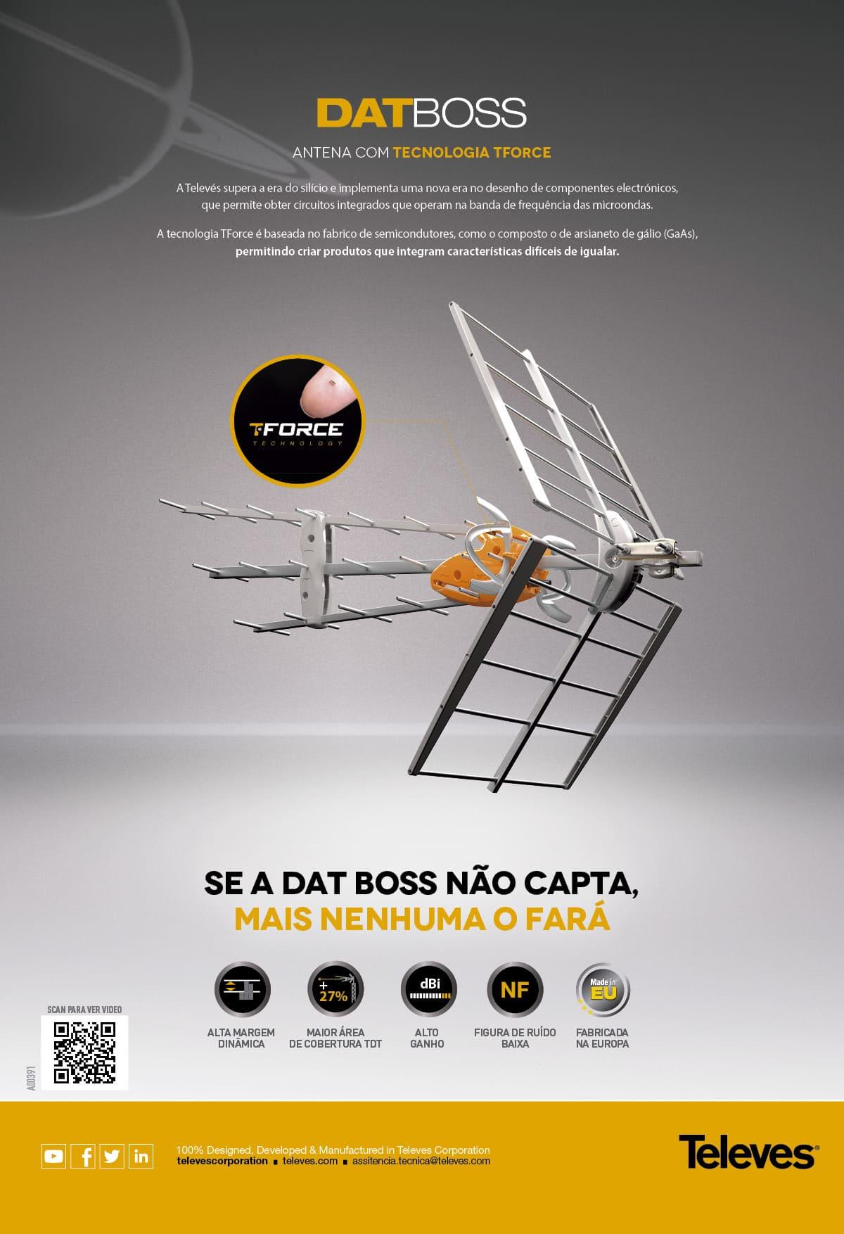 Antena DAT BOSS com tecnologia TForce