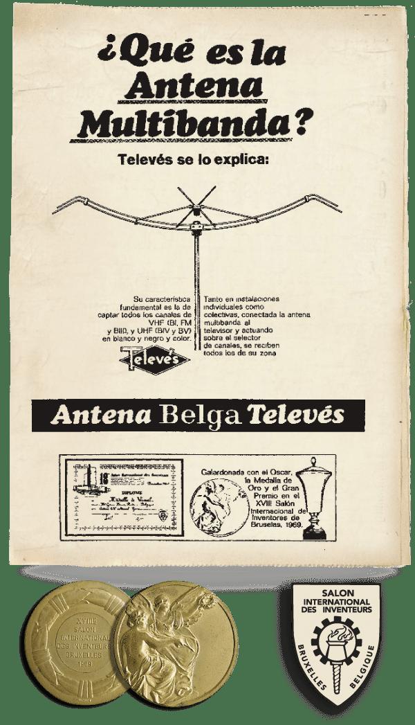 dass Televes 1969 die Goldmedaille auf der Erfindermesse in Belgien gewann