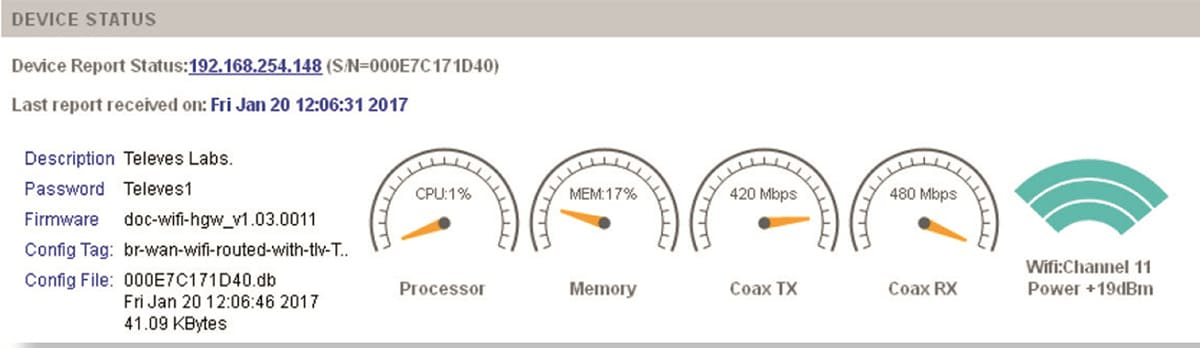 Parametrização de uma rede CoaxData