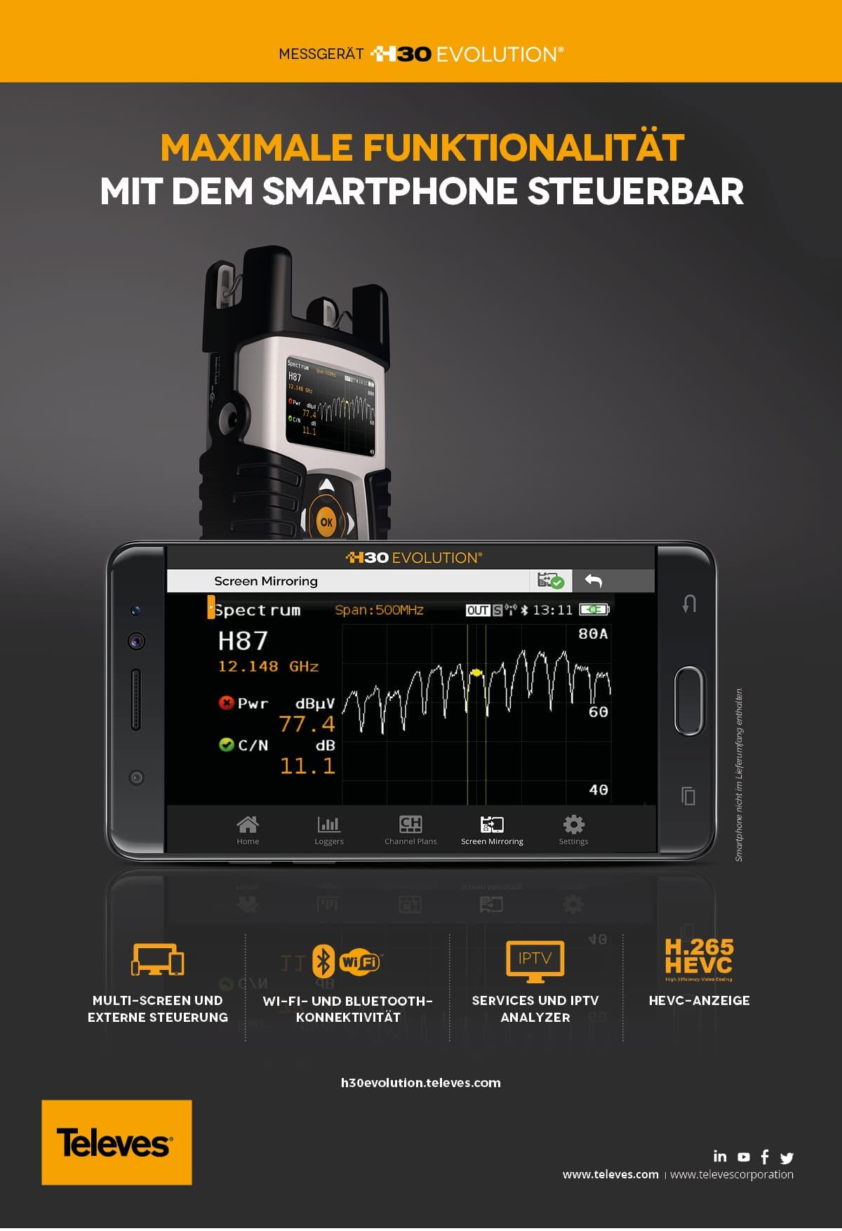 H30EVOLUTION maximale funktionalität mit dem smartphone steuerbar
