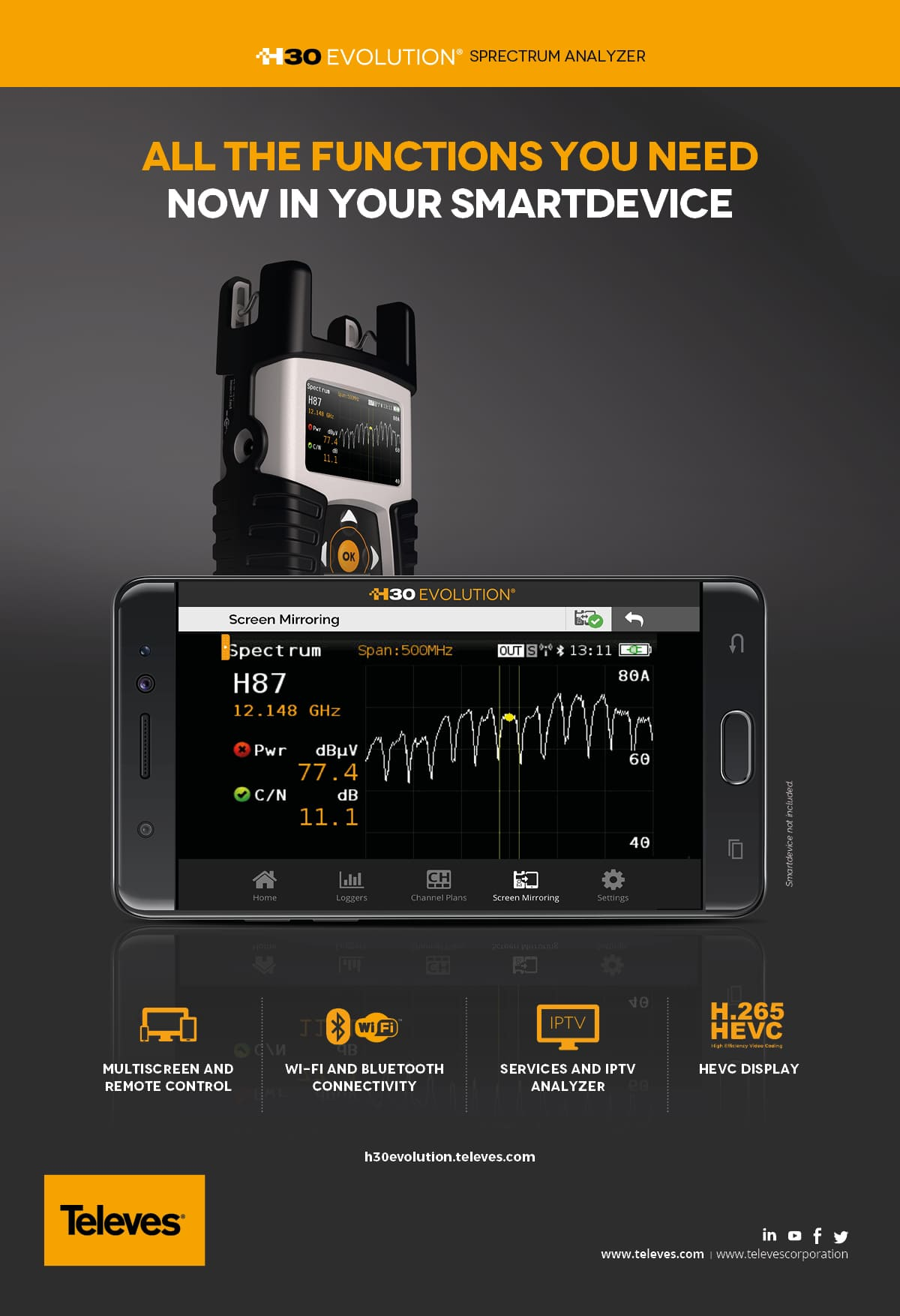 H30EVOLUTION all the functions you need  now in your smartdevice
