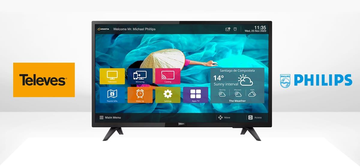 Televés y Philips Professional Display Services acuerdan desplegar interfaces IPTV para el sector Hospitality en sus televisores Philips