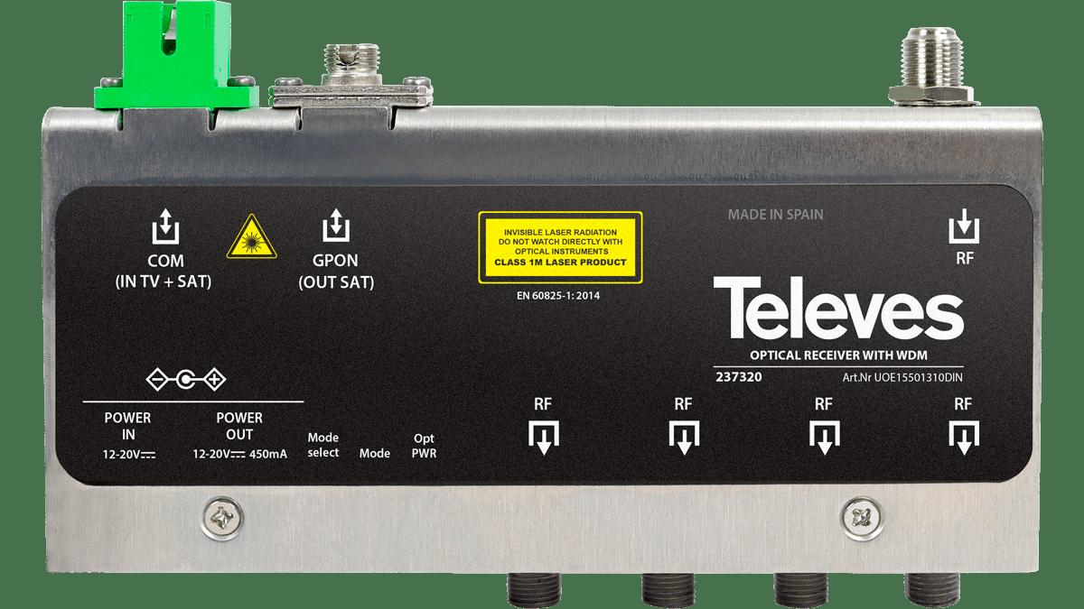 Combine TDT and SAT in optical fiber distribution