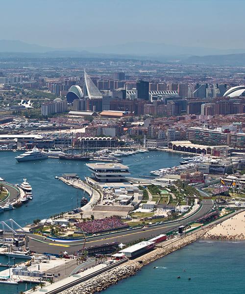 Valencia F1 Rennstrecke